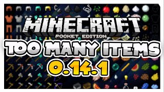 best too many items ever for 0 17 0 mcpe inventory editor minecraft pe pocket edition