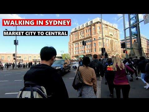 SYDNEY CITY - Walking From Market City To Central Station, Sydney Australia
