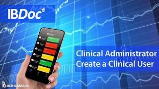 IBDoc® Portal Tutoriel Clinique de l'Administrateur de Créer une Clinique de l'Utilisateur