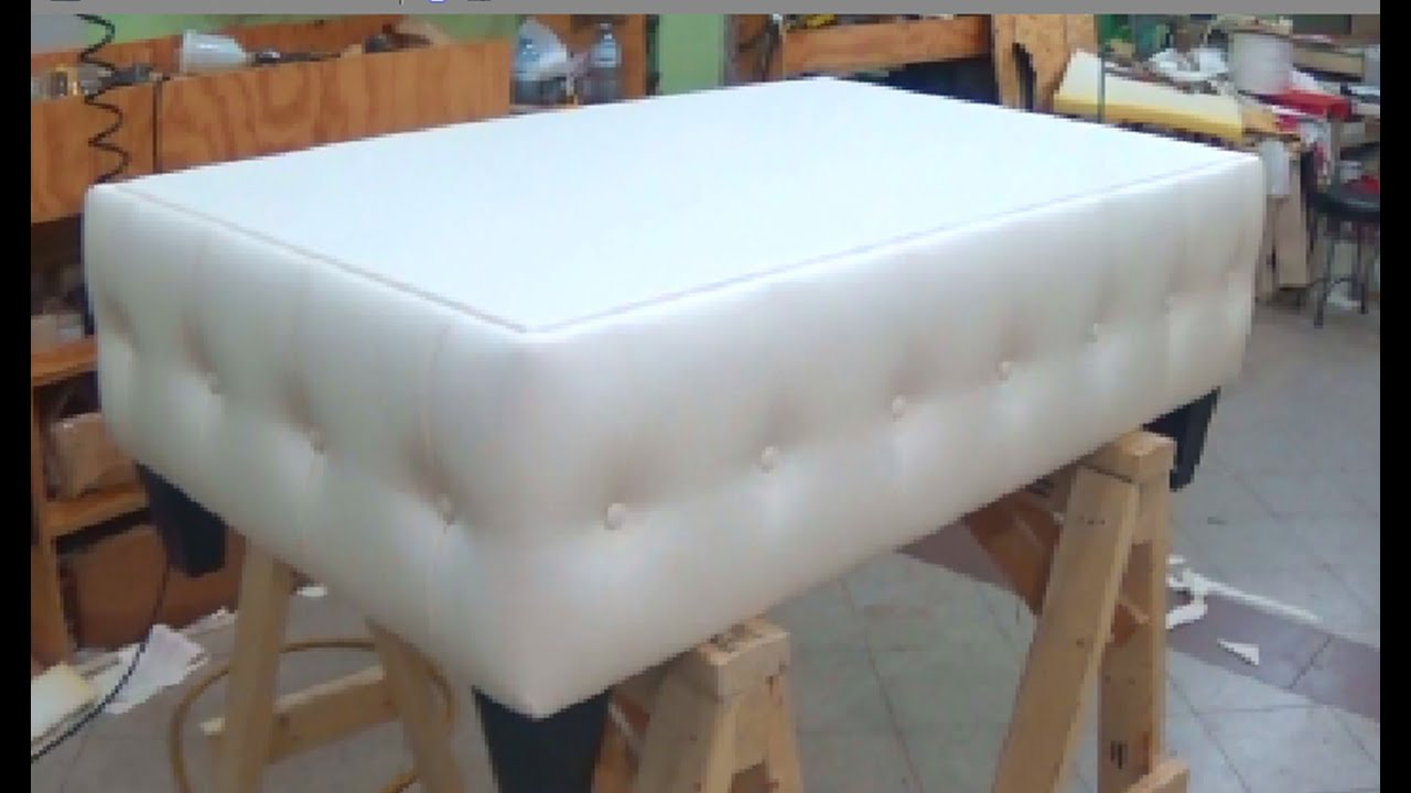 HOW TO MAKE A COFFEE TABLE WITH BUTTONS ALO Upholstery