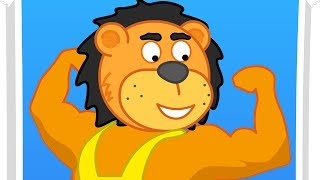 Lion Family Fitness for Children Cartoon for Kids