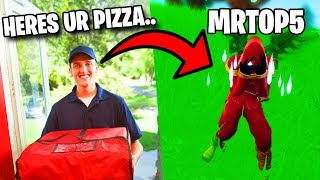 I Sent Pizza to MrTop5's House.. (Fortnite)