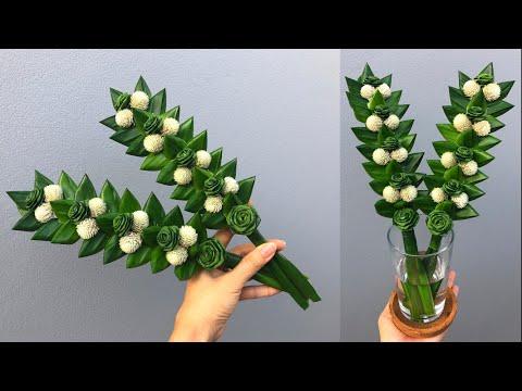 พับใบเตยดอกกุหลาบดอกเล็ก   ดอกไม้ไหว้พระ🌹🍀  MeeDee DIY