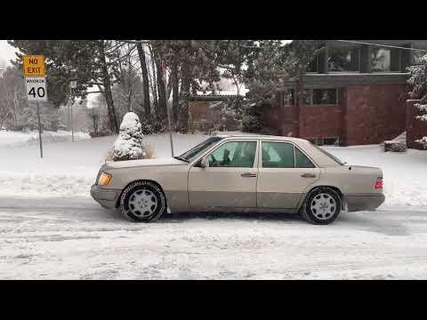 Испытания по снегу Мерседес E420 124