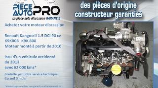 Moteur garanti Renault Kangoo II 1.5 DCI 90 cv K9K808 K9K 808
