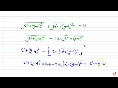 Let `A(0,-4)` And `B (0,4)` Be Two Fixed Points. Find The Locus Of A Point `P` Which Moves So T...