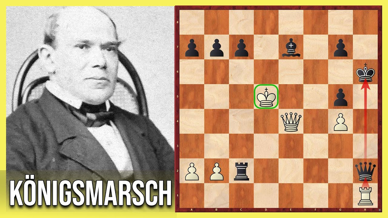Adolf Anderssens legendärer Königsmarsch || Adolf Anderssen vs.Jules Arnous de Riviere