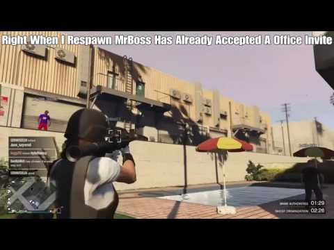 GTA V Online Killing MRBOSSFTW On His Live Stream From Jun 6, 2017 [Rage Quits 2x's]