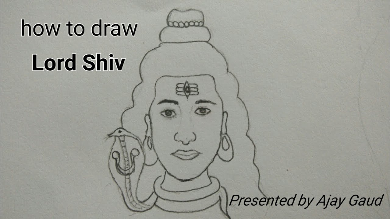 How to draw lord shiv step by step very easy