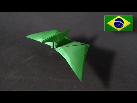 Papercraft Origami: Pterodáctilo - Instruções em Português PT BR