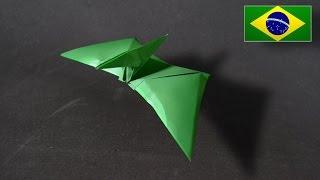 Origami: Pterodáctilo - Instruções em Português PT BR