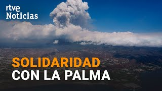 VOLCÁN de LA PALMA: La respuesta SOLIDARIA envía toneladas de DONACIONES hacia La Palma I RTVE