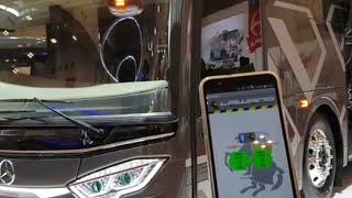 Buka Pintu Pake Smartphone!!! | Review Bus Mewah Po Pandawa87 Jetbus 3 UHD