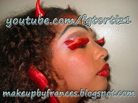 ... Tutorial de Maquillaje de Diabla para Jovenes Dia de Brujas Halloween