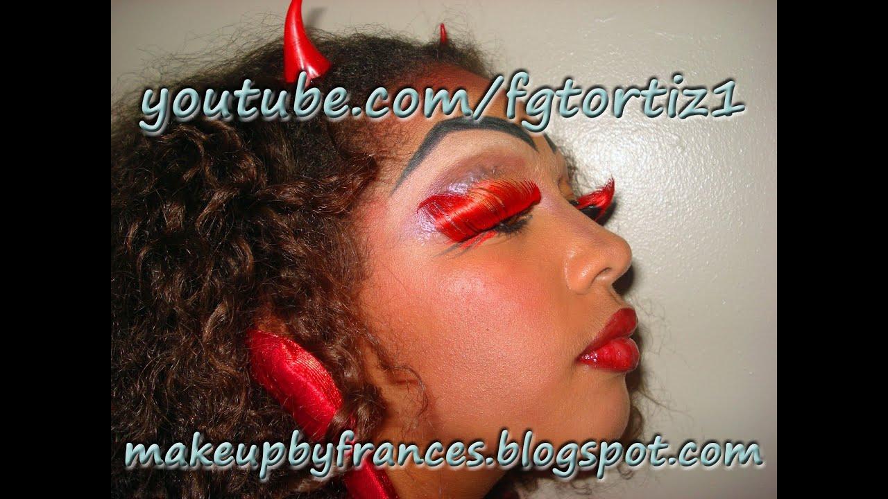 Joven Diablita Tutorial de Maquillaje de Diabla para Jovenes Dia de Brujas Halloween Español
