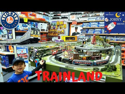 Johny Visits TrainLand Train Toy Store With Lionel MTA Long Island Railroad & Munipals Subway Trains
