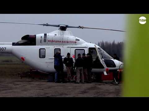 Работа санавиации в Псковской области