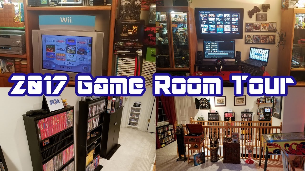 2017 Game Room Tour Complete Overview Of Our Video Game