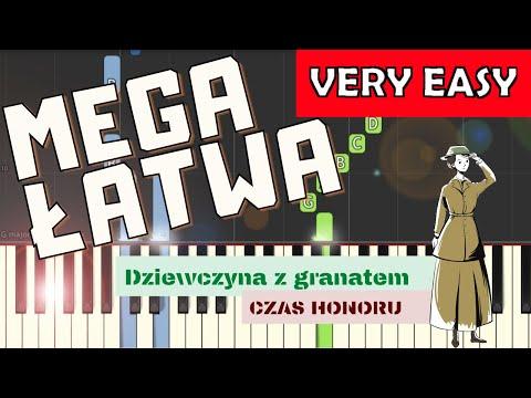 🎹 Dziewczyna z granatem (Czas honoru Powstanie) - Piano Tutorial (MEGA ŁATWA wersja) 🎹