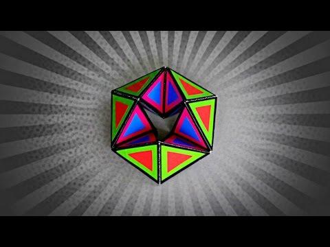 DIY - FLEXAGON (KALEIDOCYCLE) - TUTORIAL / ENDLESS PAPER TOY
