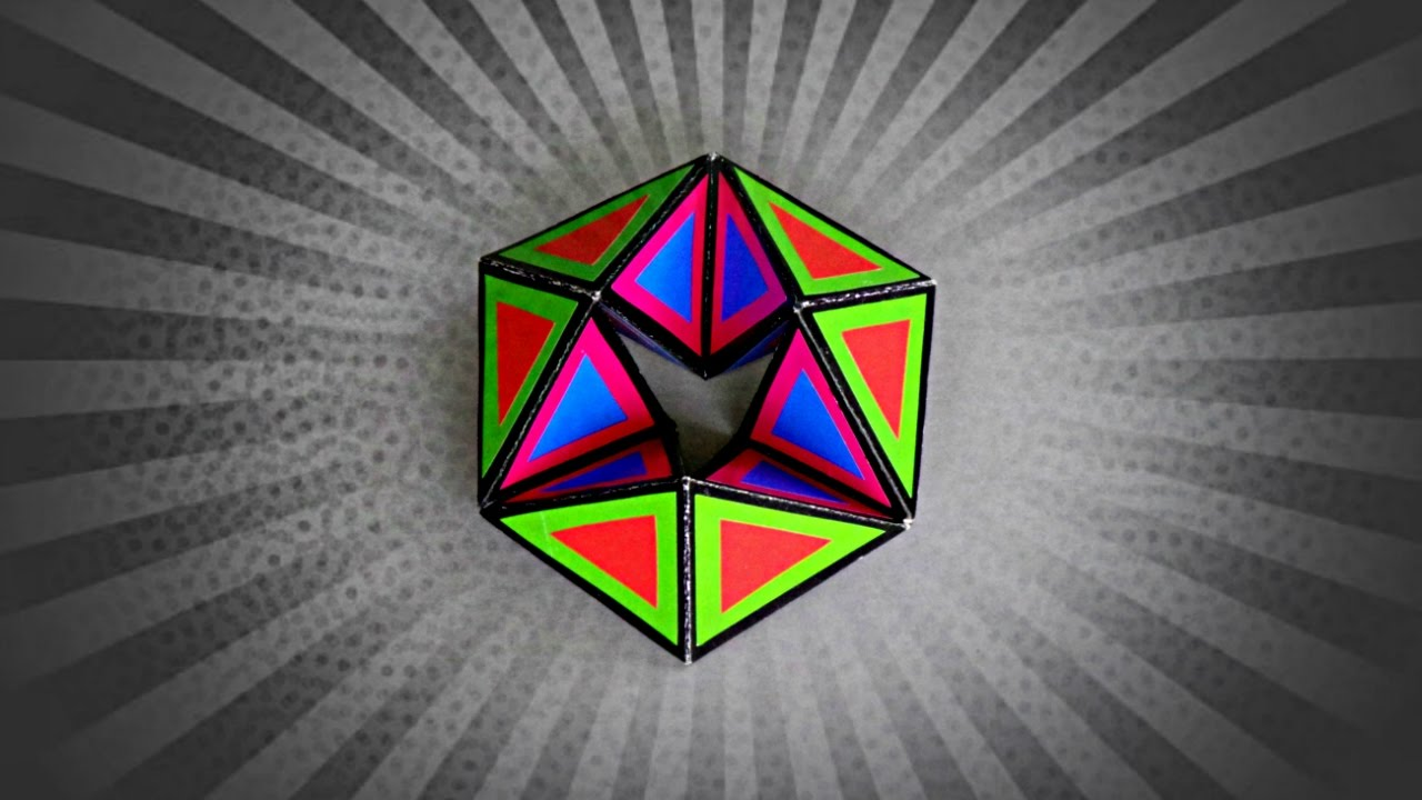Diy Flexagon Tutorial How To Make Paper Toy Doovi