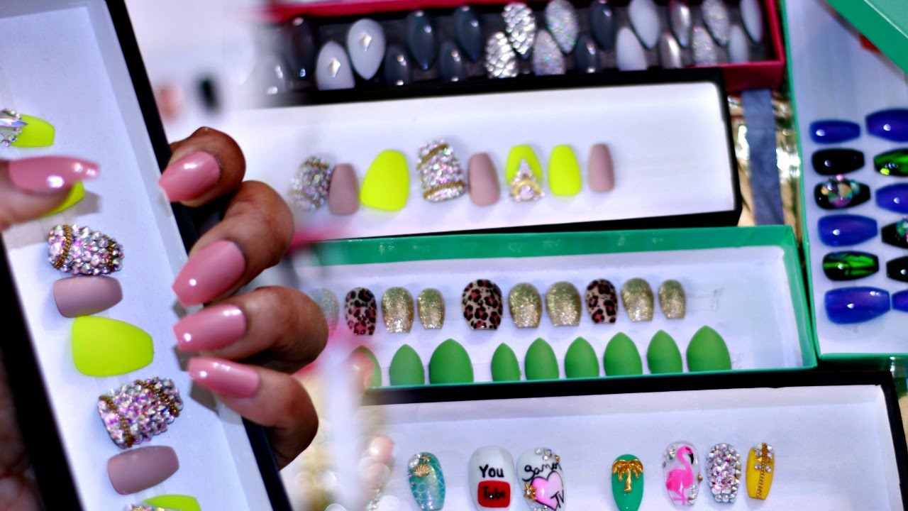Etsy Press On Nail Haul 💅 Reusable Trendy Press On Nails ☆ - YouTube