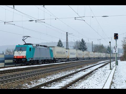 """Führerstandsmitfahrt """"Geislinger Steige"""" Ulm - Stuttgart - Kornwestheim Rbf mit BR 186"""