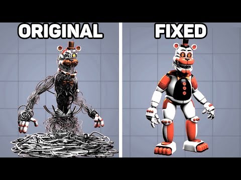 Fixed VS  Original Animatronics in Five Nights at Freddy's