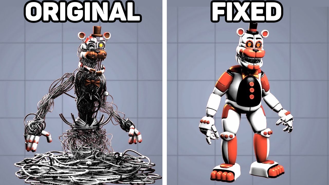 Download Fixed VS. Original Animatronics in Five Nights at Freddy's #4