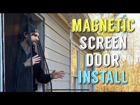 Installing Magnetic Screen Door