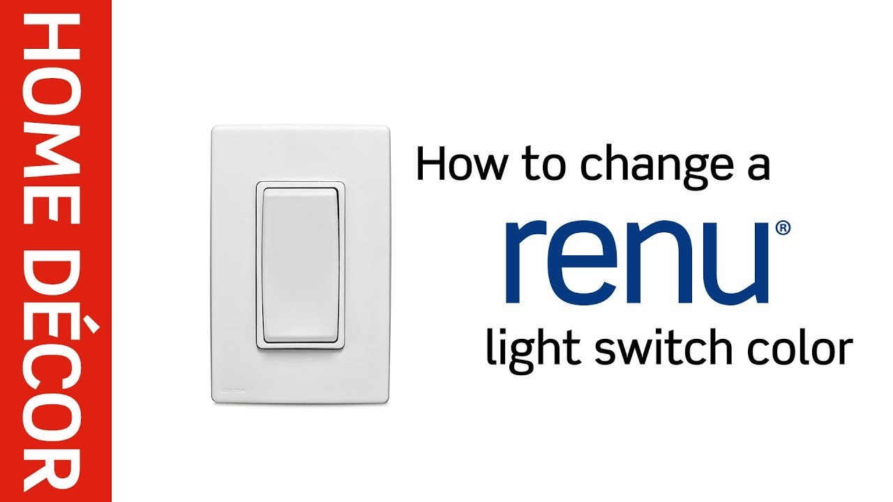 Leviton Presents: How to Change a Renu® Light Switch Color - YouTube