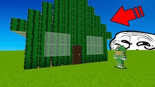 TURNING PLAYERS HOUSE INTO JUST CACTUS! (Minecraft Trolling)