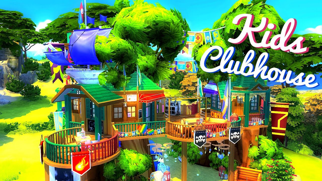 Sims House Build Kids Clubhouse Youtube