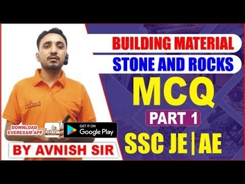 BUILDING MATERIAL STONE AND ROCKS PART 1 MCQ |SSC JE| AE