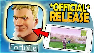 FORTNITE MOBILE -OFFICIAL- RELEASE DATE - PLUS nouvelles (COMMENT à DOWNLOAD iOS / Android - CODES GRATUIT)