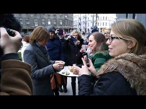 Bread, salt and vodka- welcoming John and Patricia Kelly in Poland 11.01.2018