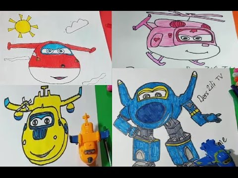Harika Kanatlar Jett- Donie - Dizzy ve Jerome Çizimi ve Boyaması - Superwings All  Character
