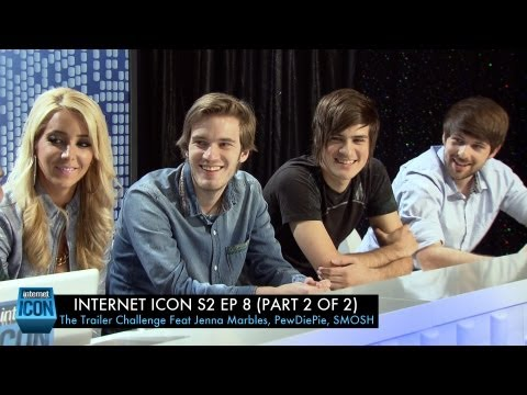 Internet Icon S2 Ep8 - The Trailer Challenge (Part 2 of 2) Feat SMOSH, Jenna Marbles, and PewDiePie
