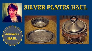 goodwill silver plate haul my perfumes and storage