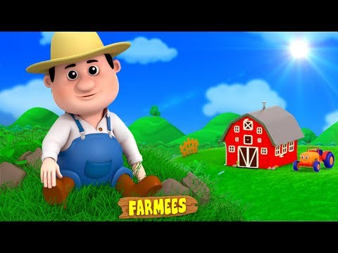 Old Macdonald Had A Farm | English Nursery Rhymes | Kindergarten Songs for Kids Playlist by Farmees
