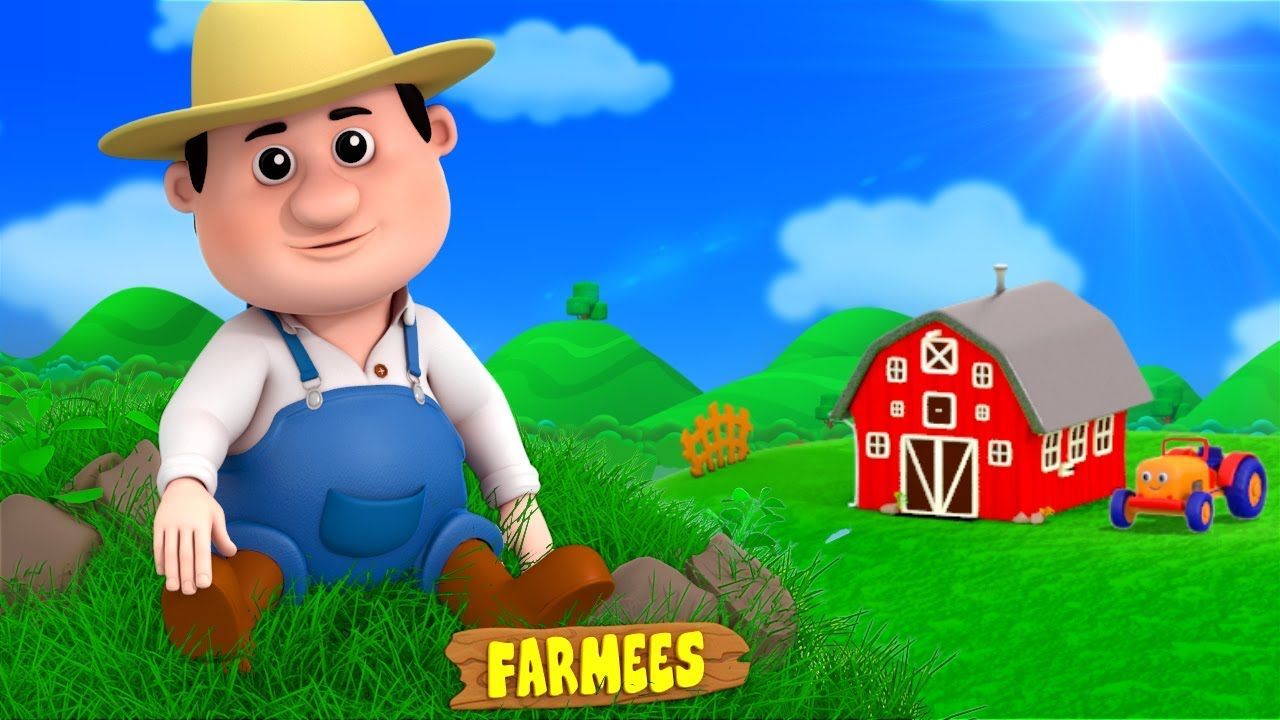 Old Macdonald Had A Farm   English Nursery Rhymes   Kindergarten Songs for Kids Playlist by Farmees