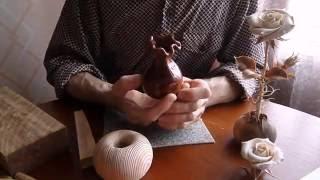 резьба по дереву урок 6 вырезаем стебель и шипы