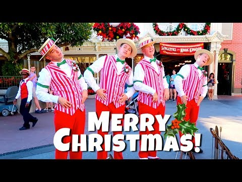 Dapper Dans at Disney World's Magic Kingdom Sing Christmas Songs