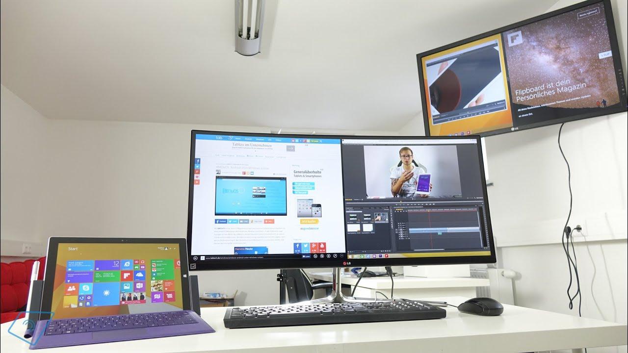 Das Microsoft Surface Pro 3 Als Desktop Replacement Nutzen