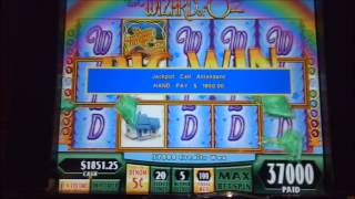 370X Wizard Of Oz Hand Pay Huge Win Slot Bonus By RamblinGamblin1 | WMS