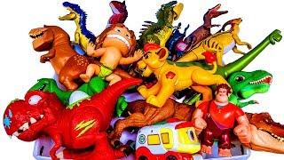 장난감상자에 쥬라기월드 공룡이 가득. 장난감 특별전  라이온킹  고고다이노 토이스토리 공룡메카드