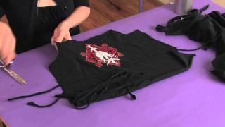 How to Cut Punk Shirts for Girls : Shirt Modifications