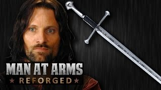 Aragorn s Narsil Andril Lord of the Rings - MAN AT ARMS REFORGED