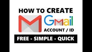 Gmail Hesabı Oluşturmak İçin nasıl Kolayca 2019 | Bedava Yeni Gmail KİMLİĞİ veya Google Hesabı Yapmak