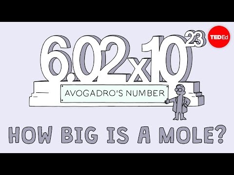 How big is a mole? (Not the animal, the other one.) - Daniel Dulek